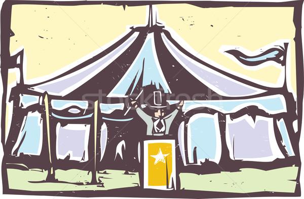 Cyrku namiot ekspresjonista stylu obraz karnawałowe Zdjęcia stock © xochicalco