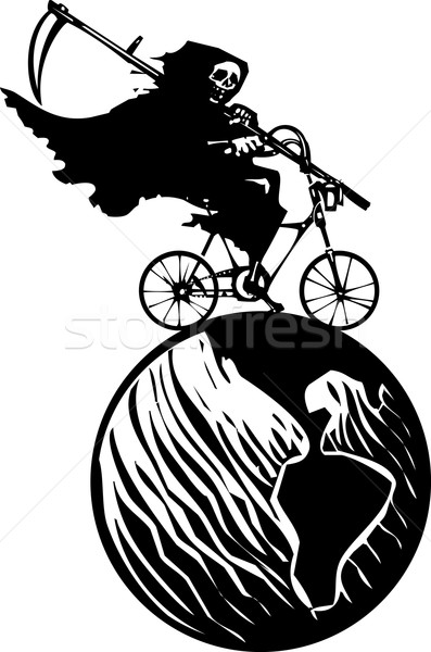 Death Bicycle and Earth Stock photo © xochicalco