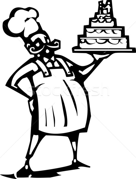Wedding cake Chef Stock photo © xochicalco