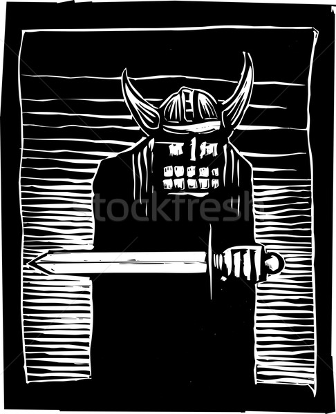 Viking with Sword Stock photo © xochicalco