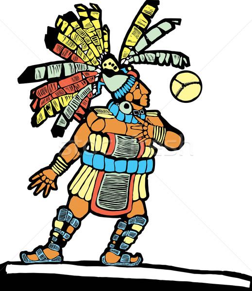 Mayan Ballplayer 1 Stock photo © xochicalco