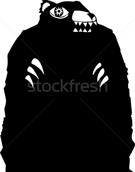 Czarny ponosi lasu zęby sen duch Zdjęcia stock © xochicalco