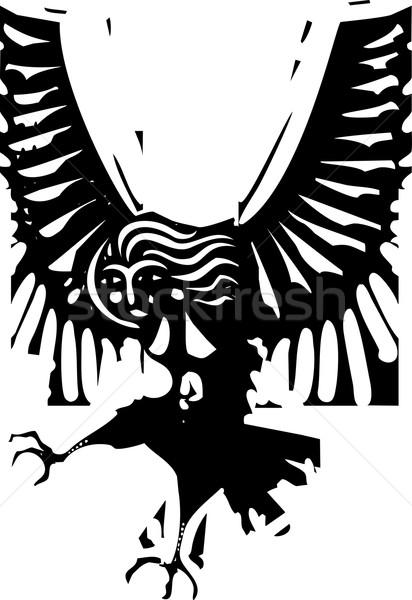 Estilo imagem grego mitológico mulher asas Foto stock © xochicalco