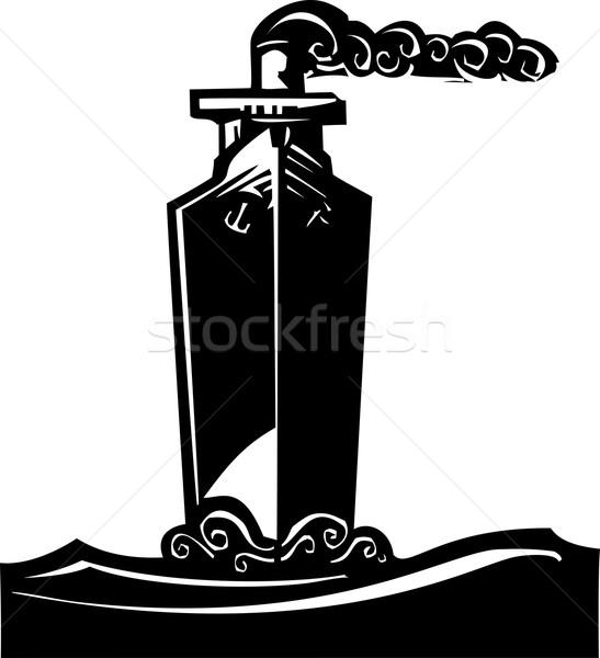 Navire style image vapeur Photo stock © xochicalco