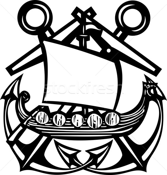 Crossed Anchor Viking Stock photo © xochicalco