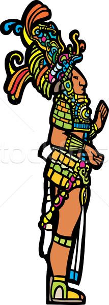 Permanente aangepast tempel geschiedenis tattoo Stockfoto © xochicalco