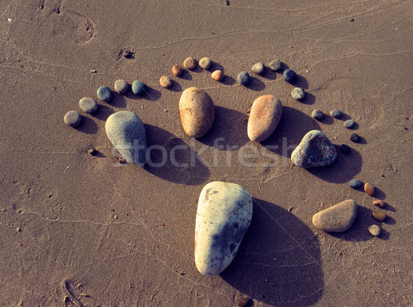 foot, pebble, sand, art, beach Stock photo © xuanhuongho