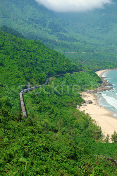 Lang Co beach, Hue, train, railway Stock photo © xuanhuongho
