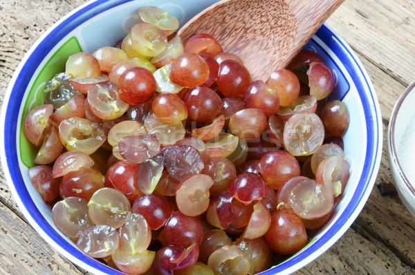 винограда вино фрукты ферментация домой Сток-фото © xuanhuongho