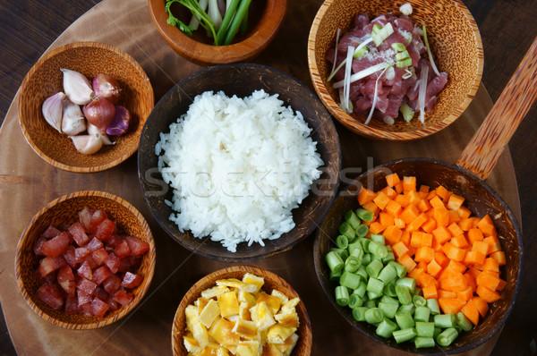 Voedsel rijst asian eten heerlijk Stockfoto © xuanhuongho