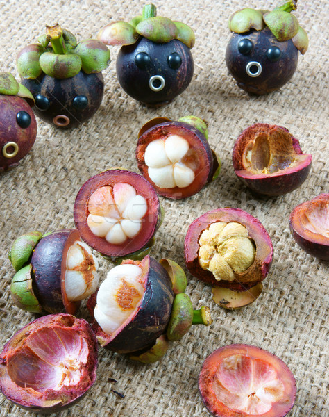 Asombroso funny mangostán preocupado cara idea Foto stock © xuanhuongho