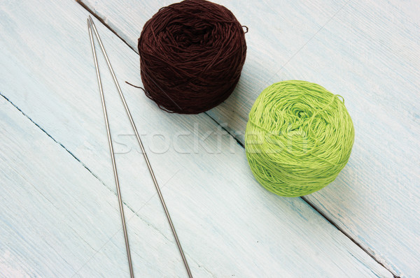 Knit, ball of wool, handmade present Stock photo © xuanhuongho