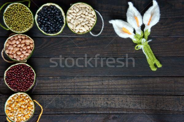 Gabonafélék egészséges étel rost fehérje gabona antioxidáns Stock fotó © xuanhuongho