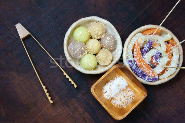 Vietnamese street food, sweet cake Stock photo © xuanhuongho