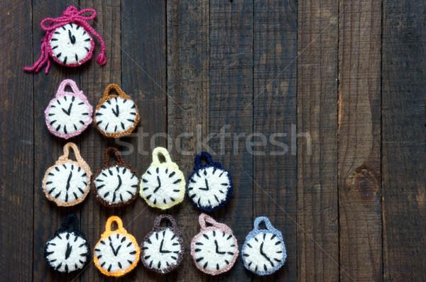 Handmade, clock, happy new year 2016, time Stock photo © xuanhuongho