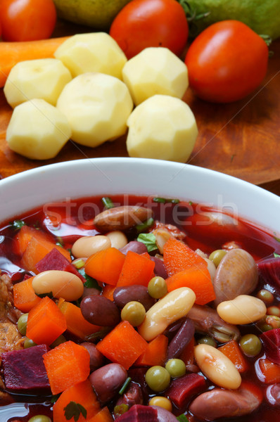 Vietnamese food, vegetable soup Stock photo © xuanhuongho