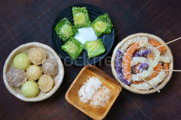 Street food zoete cake populair snack Vietnam Stockfoto © xuanhuongho