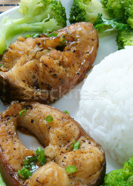 Alimentaire poissons sauce Cook asian Photo stock © xuanhuongho
