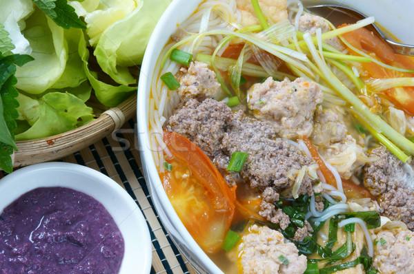 Vietnamese food, bun rieu, bunrieu,Vietnam eating Stock photo © xuanhuongho