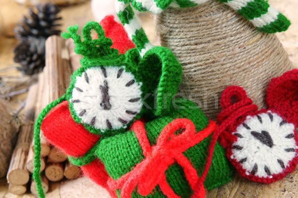 Navidad hecho a mano reloj navidad regalo tiempo Foto stock © xuanhuongho