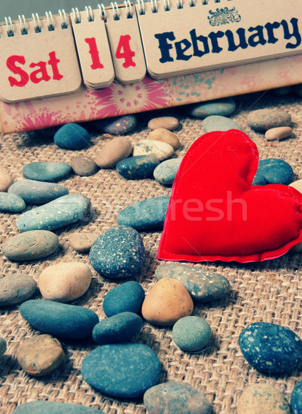 Red heart, Valentine day Stock photo © xuanhuongho