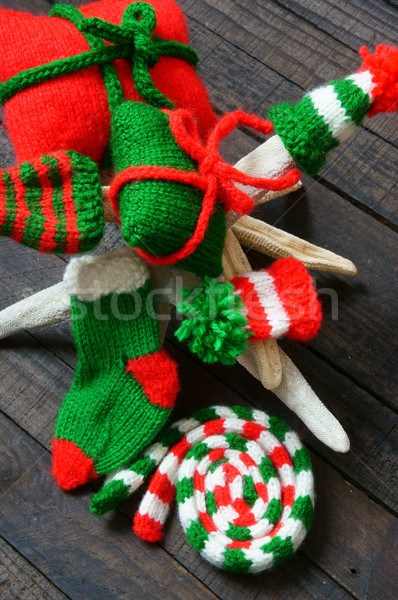 Christmas ornament kerstmis winter vakantie Rood Stockfoto © xuanhuongho