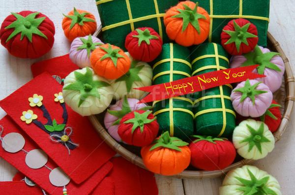 Vietnam feliz año nuevo asombroso vacaciones arroz torta Foto stock © xuanhuongho