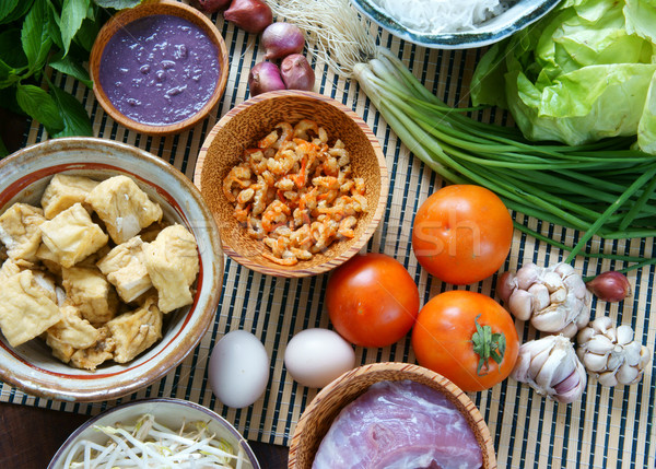 Vietnamese food, bun rieu, bunrieu,Vietnam eating Stock photo © xuanhuongho