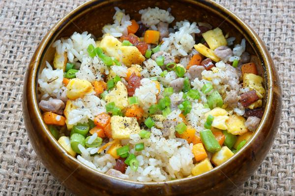 Vietnamese food, fried rice, Asian eating Stock photo © xuanhuongho