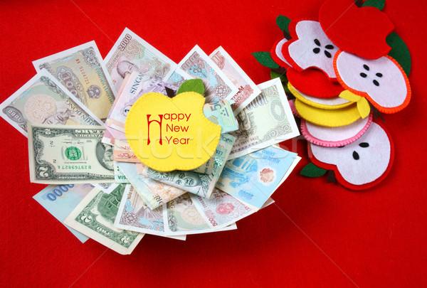 Vietnam Tet, red envelope, lucky money Stock photo © xuanhuongho