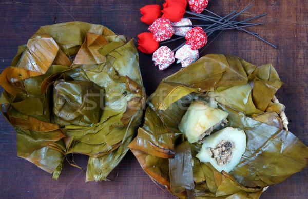 Vietnamese food, banh gio Stock photo © xuanhuongho