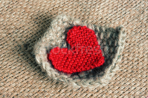Handmade, knit, knitting, art hobby, lovely creatve Stock photo © xuanhuongho
