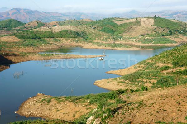 Vietnam landscape, mountain, bare hill, deforestation Stock photo © xuanhuongho