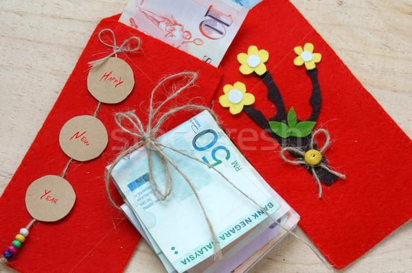 ベトナム 赤 封筒 ラッキー お金 ストックフォト © xuanhuongho