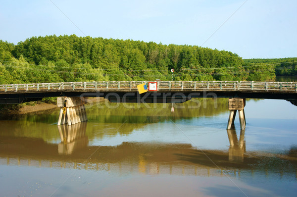 Vietnamese village, melaleuca forest, Can Gio bridge Stock photo © xuanhuongho