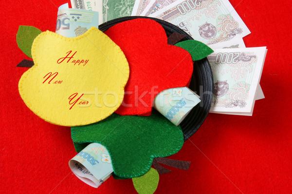 Vietnã vermelho envelope sortudo dinheiro hábito Foto stock © xuanhuongho