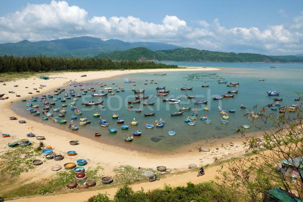 fishing village, Phu Yen, Viet Nam, Vietnam seascape Stock photo © xuanhuongho