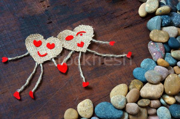 Valentine day, symbol of love, red heart Stock photo © xuanhuongho
