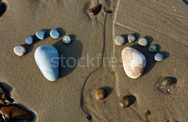 Pé areia arte praia grupo Foto stock © xuanhuongho