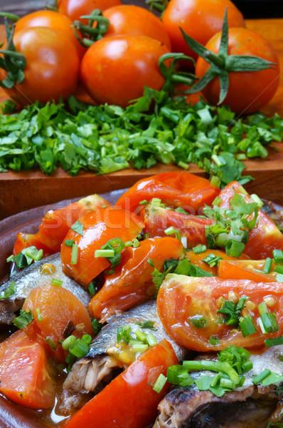 Comida peixe tomates popular prato Vietnã Foto stock © xuanhuongho