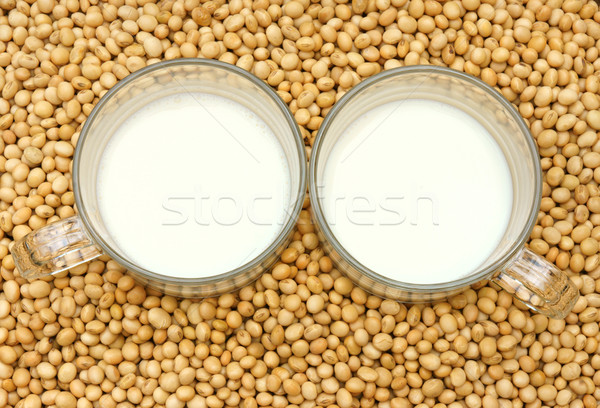 Soybean, soymilk, nutrition beverage Stock photo © xuanhuongho