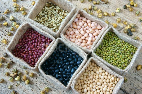 Graan granen gezonde voeding voeding eten collectie Stockfoto © xuanhuongho