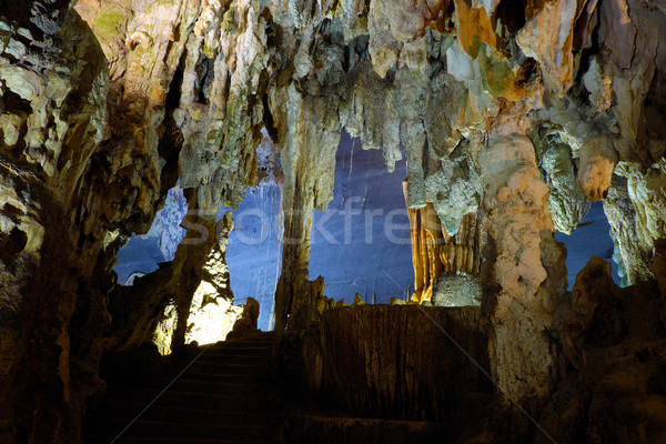 взрыв пещере Мир наследие Вьетнам удивительный Сток-фото © xuanhuongho