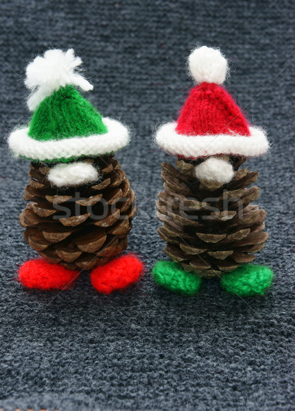 Christmas pine gnome, Xmas pinecone Stock photo © xuanhuongho