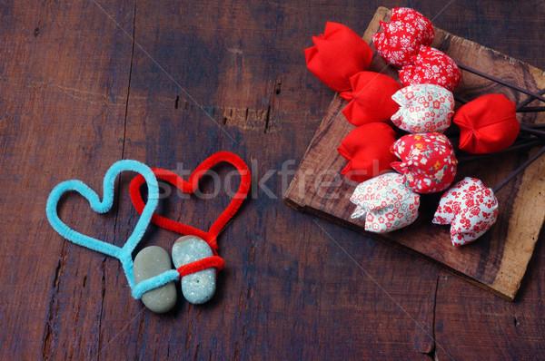 Valentine 14 amor colorido harmonia surpreendente Foto stock © xuanhuongho