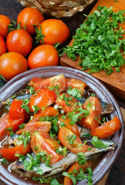 Voedsel vis tomaat populair schotel Vietnam Stockfoto © xuanhuongho