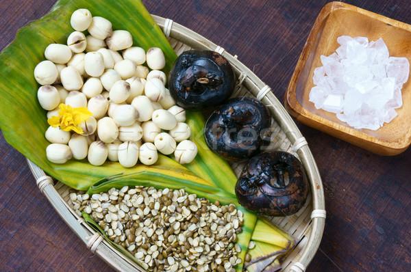 Voedsel zoete lotus zaad ingrediënten boon Stockfoto © xuanhuongho