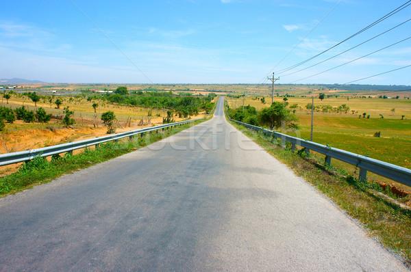 Vietnam carretera ruta viaje camino rural cruz Foto stock © xuanhuongho