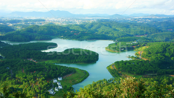 Amazing, beautiful panorama, Dalat travel, Vietnam Stock photo © xuanhuongho
