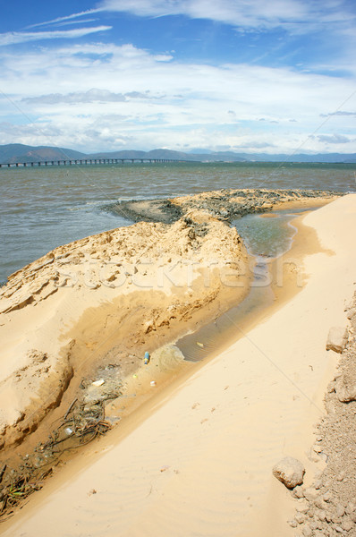 Reclamation project, fill up, construction plan, Vietnam Stock photo © xuanhuongho